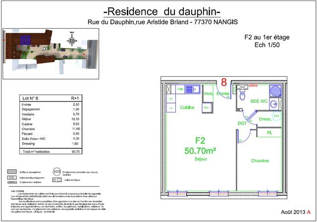 Résidence du Dauphin - Plan de vente - Lot n°8
