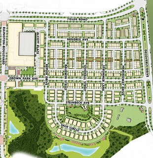 site plan, Crown Farm, Gaithersburg, MD (courtesy of Crown, smarturbanliving.com)