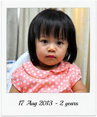 Noemie's birthday - 2 years