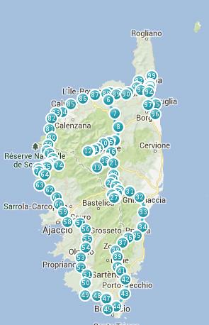 mapa korsika