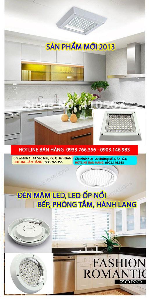 đèn led downlight 3W, 5W, 7W, 9W, 12W giá rẻ nhất 2013