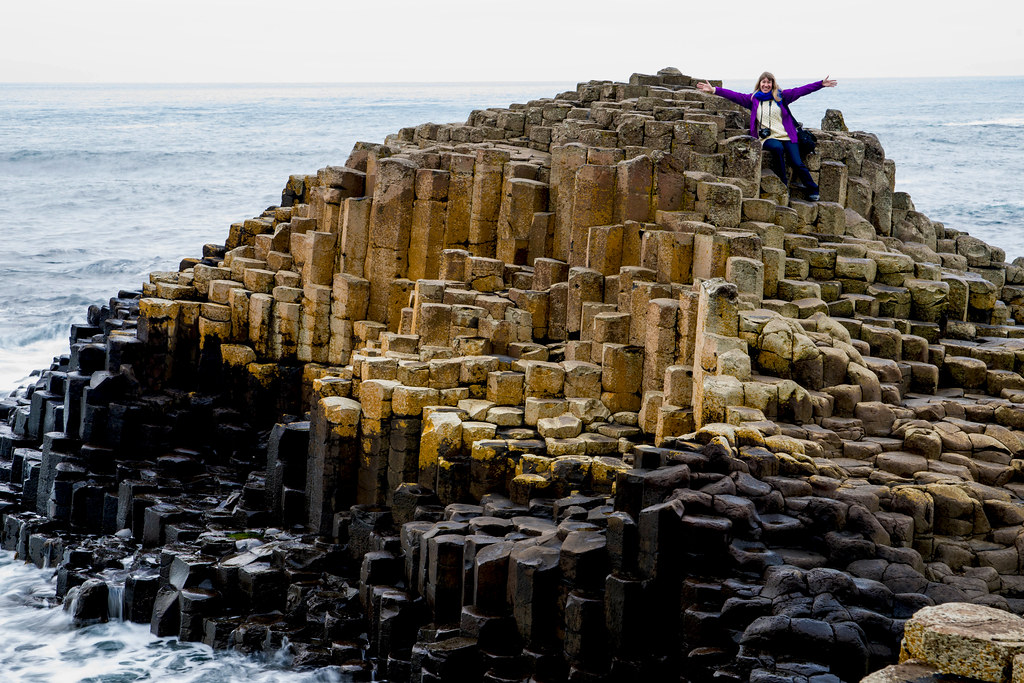 Cynthia On The Giant's Causeway