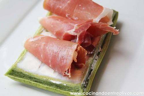 Gofres de espinacas www.cocinandoentreolivos (3)