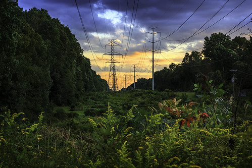 sunset virginia twilight cloudy dusk powerlines burke fairfaxcounty
