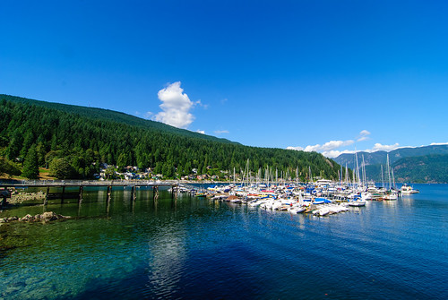 Water, trees and boats : deep cove