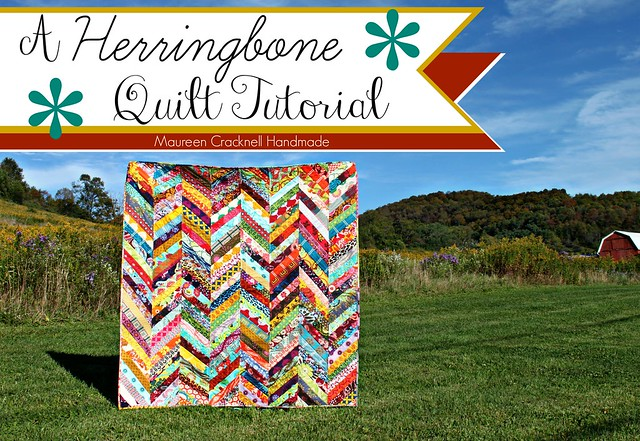 A Herringbone Quilt Tutorial // Maureen Cracknell Handmade