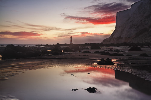 park sunset sea england cliff lighthouse sisters downs sussex chalk head south east national seven beachy