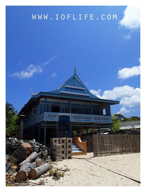 rumah adat di Pulau liukang