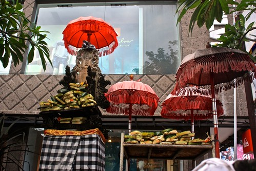 piles of offerings to what Lina calls the umbrella god