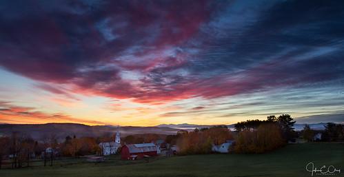 barn church fall jclay mountains newengland peacham sunrise vermont mygearandme mygearandmepremium