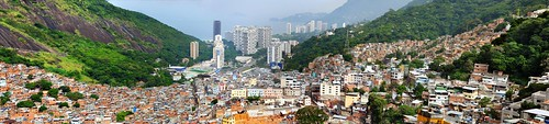 a panoramic view of the Rocinha favela (by Heitor Jorge, creative commons)