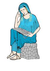 Penelope, mit Tastatur
