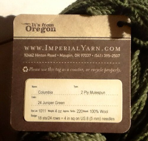 Imperial wool tag
