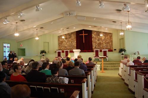 Interior of Maranatha Baptist Church, Plains, GA
