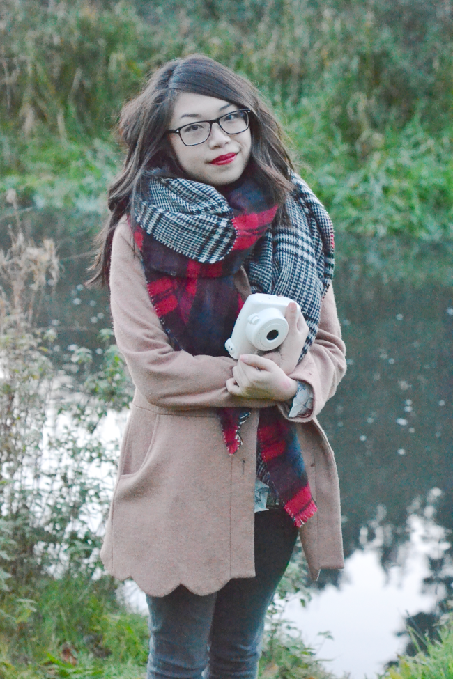 Daisybutter - UK Style and Fashion Blog: what i wore, AW13, tartan, zara tartan scarf, cosy autumnal outfit, british fashion