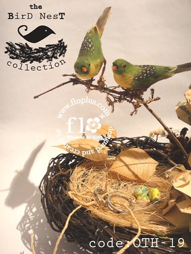 bantal cincin unik - green bird wedding ring nest 3