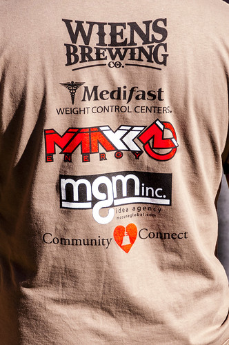 Sponsors of Old West Race Weins Brewing, Medifast, Manyk Energy, MGM Inc., and Community Connect, by Crispin Courtenay Flickr