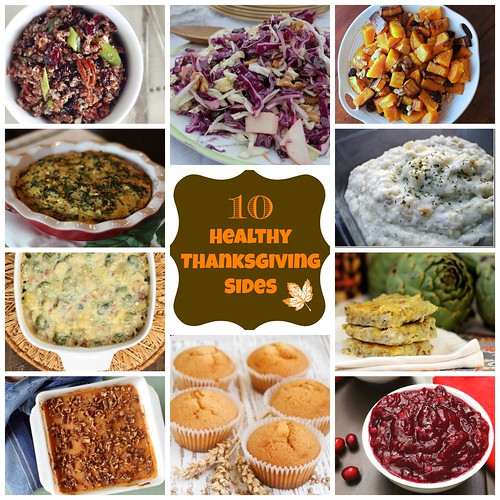 10 Healthy Thanksgiving Side Dishes via MealMakeoverMoms.com/kitchen