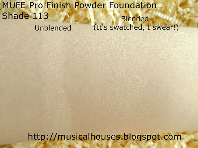 MUFE Pro Finish Foundation swatch