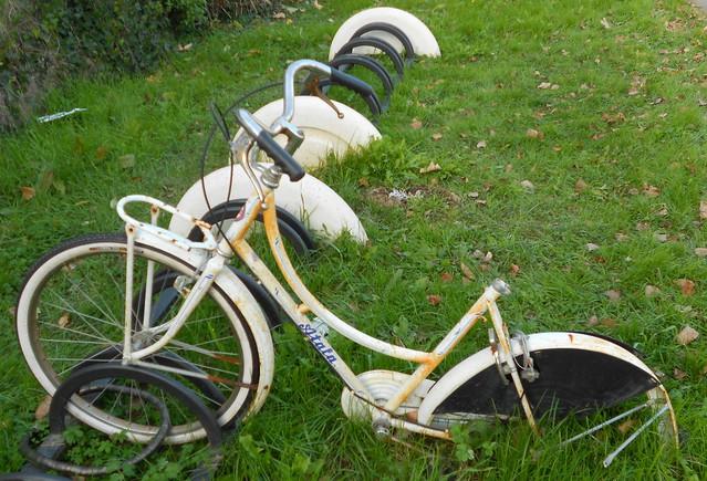 parcheggio un attimo la bicicletta poi ...