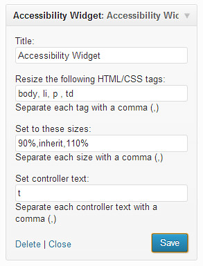 Accessibility Widget 1.2 for WordPress