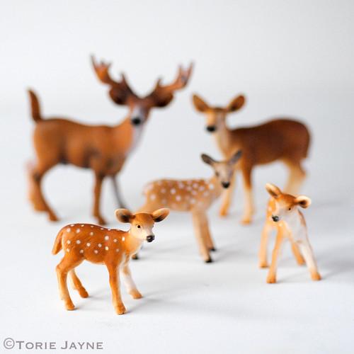 Plastic doe & deer