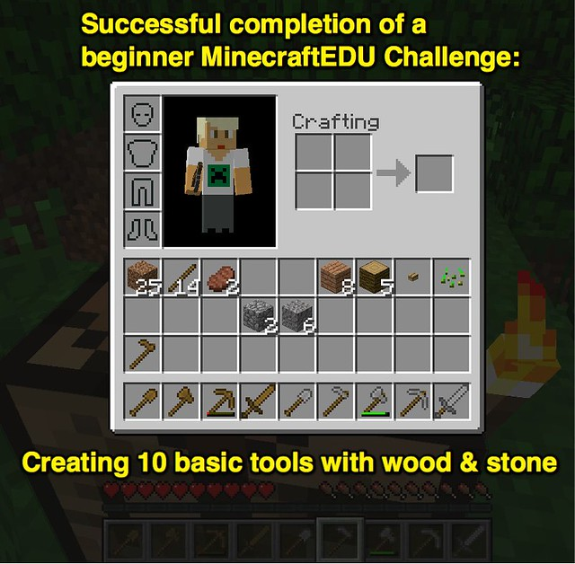 Creating 10 basic tools with wood & stone