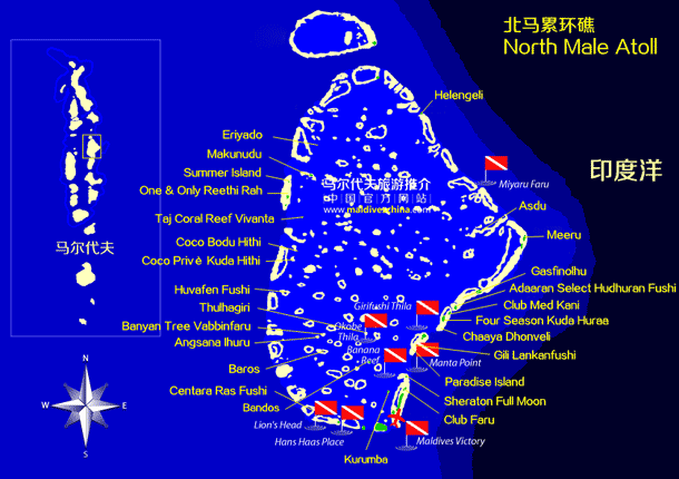 马尔代夫北马累环礁
