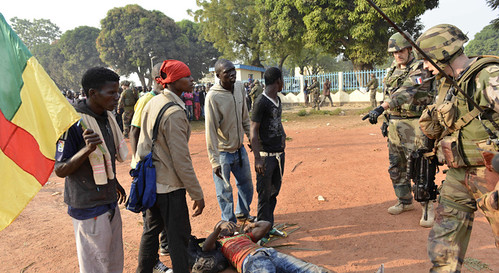 Chadian troops opened fire on demonstrators in the Central African Republic capital city of Bangui killing on person and wounding others. The Chad troops are working with France in occupying the country. by Pan-African News Wire File Photos