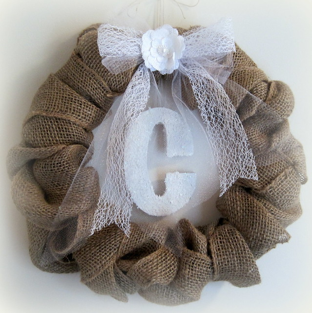 Winter Burlap Wreath - Designs By Dawn Rene