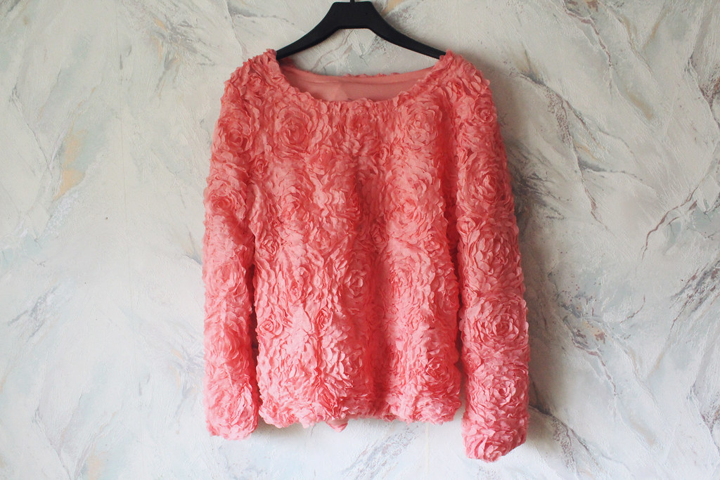 pink rose mesh sweater review bought on Ebay