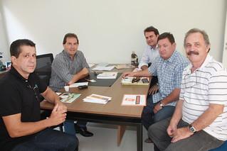 David Martins, Paulinho da Força, Alfredo Melaré Neto, Élbio Trevisan e José Carlos Melaré, em reunião no Diretório Estadual do Solidariedade