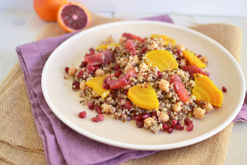 Quinoa Beet and Blood Orange Salad via LittleFerraroKitchen.com