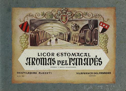 014-Colección de etiquetas de bebidas Álbum de etiquetas de las Destilerías Alberti -1890-1930- Biblioteca Digital Hispánica