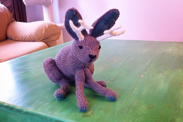 Knit Jackalope Softie