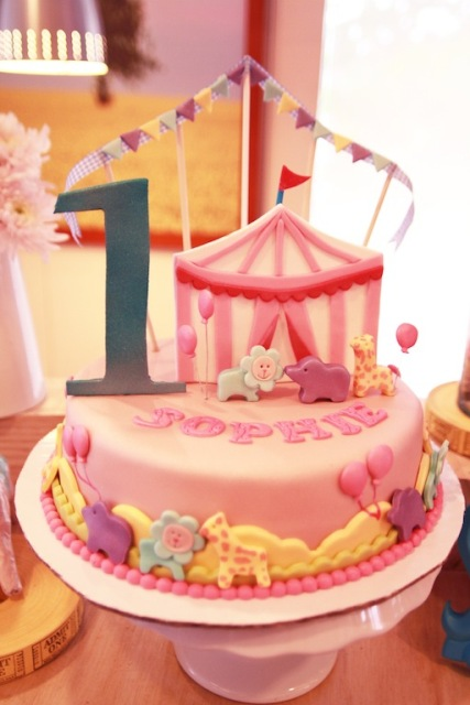 Sophie's Pink Carnival Themed Party – 1st Birthday - Party Doll ...