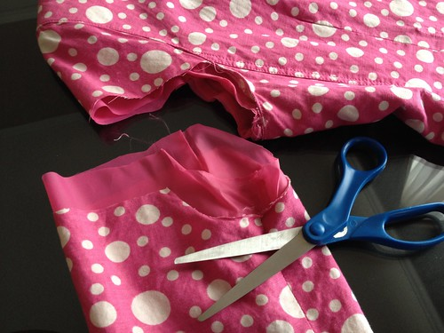 Pink Polka Dot Blazer - In Progress