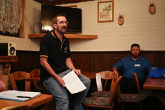 "Canberra Brewers Inc. posted a photo:	Stephen ""Lawfo"" Lawford presents his English Mild."
