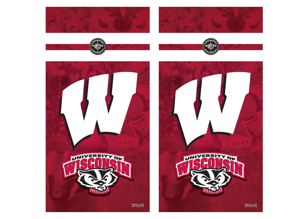 Wisconsin Cornhole Game Decal Set