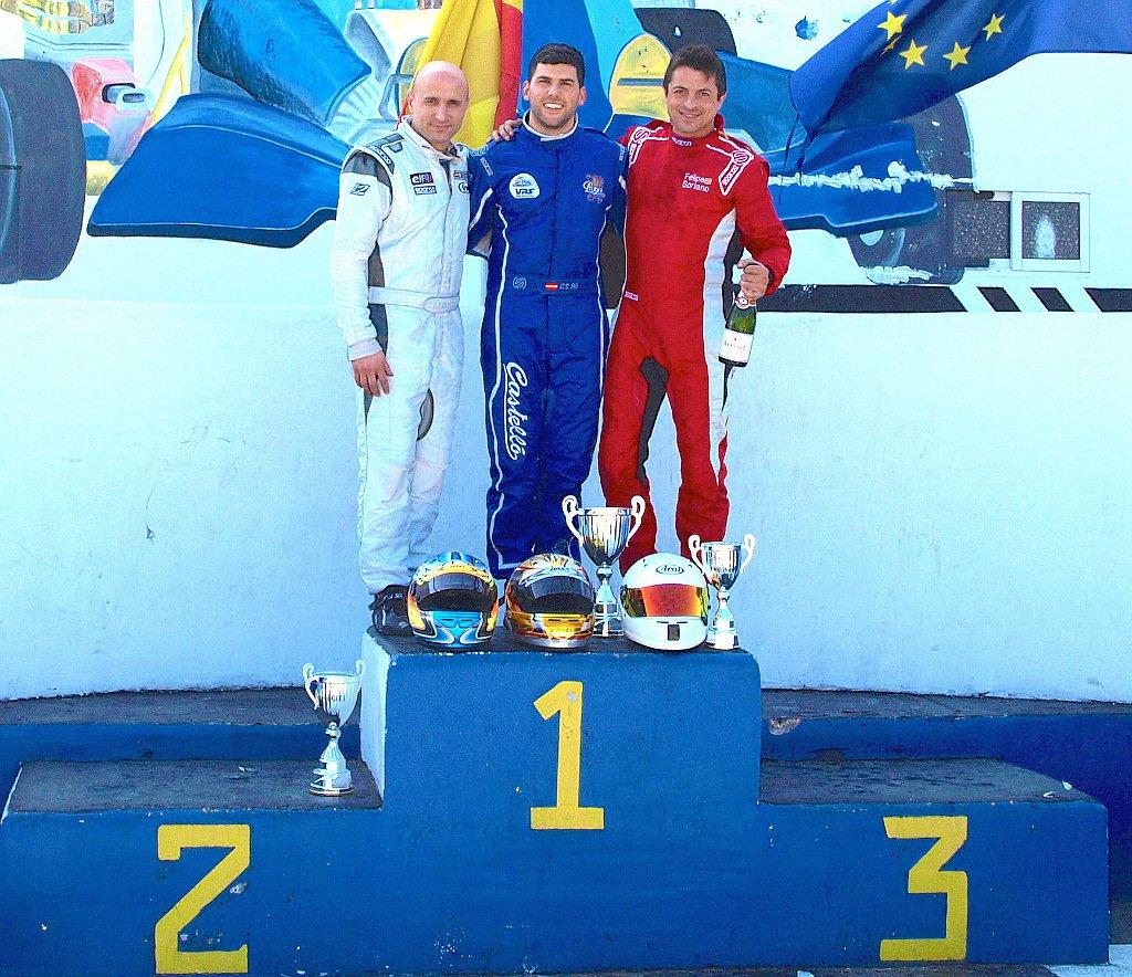 Podio de la Cuarta Jornada de la F400 Sirocco 2014