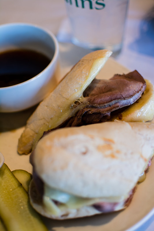 Annie Gunn's French Dip sandwich