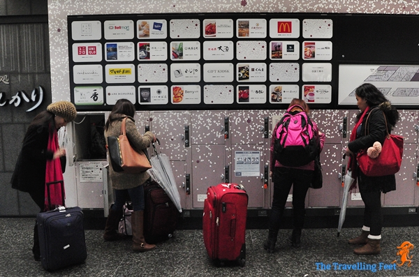 coin lockers at the Kyoto Station