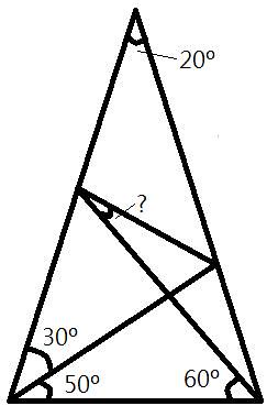 triangle - geometry maths puzzle