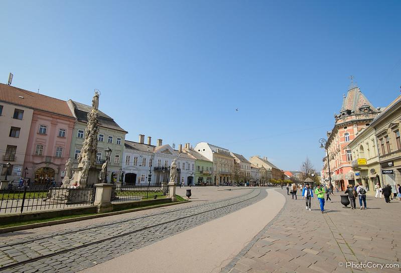 main street in Kosice, Slovakia