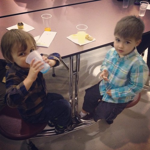 Best parts of the concert for Jameson: seeing the big kid school, hanging with his best bud, and eating cookies