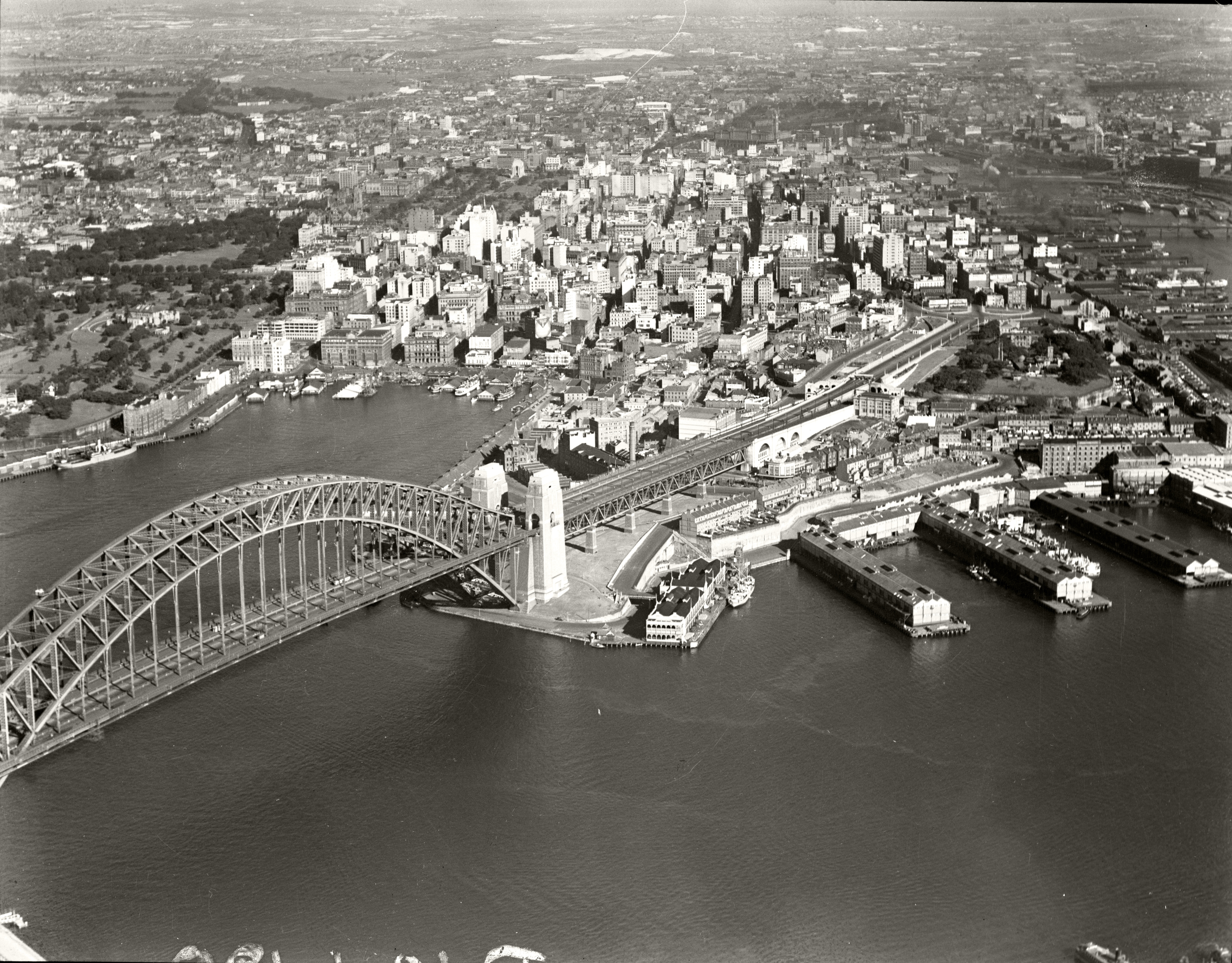 Sydney Harbour Bridge and City from North Sydney 2