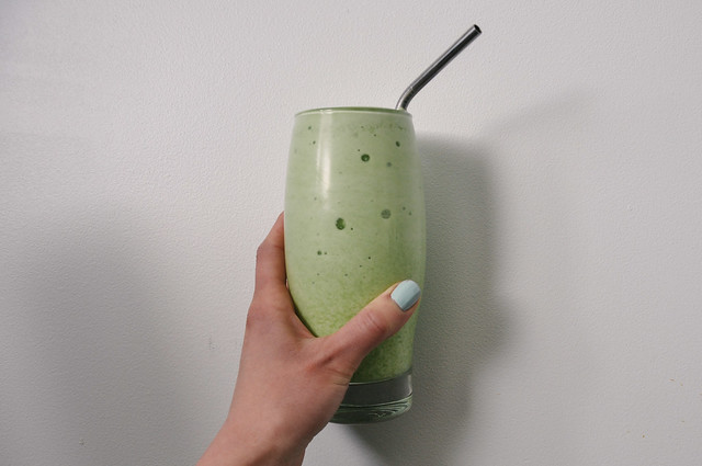 Banana Wheatgrass Smoothie