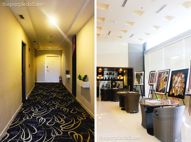 B Hotel hallway and coffee tables