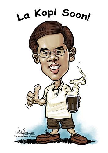 digital kopi caricature for Ministry of Manpower (revised)