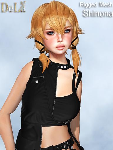 "=DeLa*= New Rigged Mesh Hair ""Shinona"""